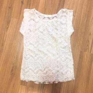 Atasan white lace