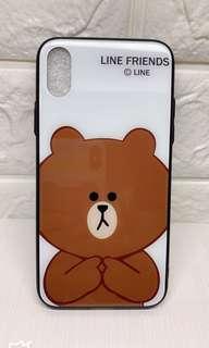 iPhone X case📱Line Friends🐻白