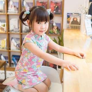 My Melody Cheongsam Qipao for girls kids toddlers [PO] / CNY clothes for girls / CNY 2019 / Pretty clothes
