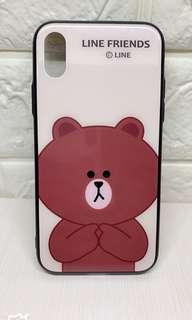 iPhone X case📱Line Friends 🐻粉