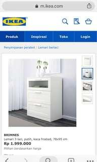Ex display lemari brimnes ikea