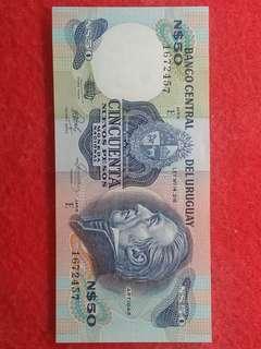 Uang asing 50 uruguay