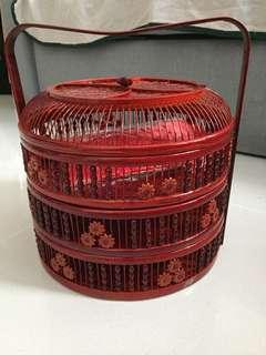 3-tier basket for betrothal/ dowry gifts