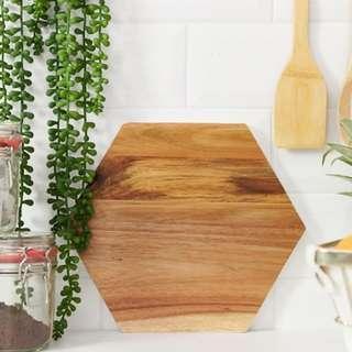 Wooden Hexagon Chopping Board