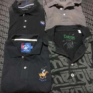 4 x Polo shirts to clear!