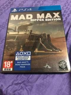 Ps4 steel case mad max ripper edition region 3