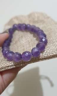 Amethyst raw crystal bracelet