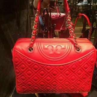 【Sale】Tory burch red duffel bag