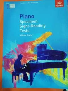 Piano specimen sight reading