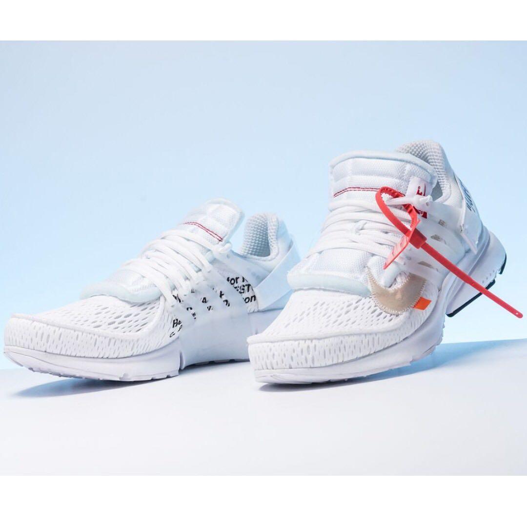 d49ae6b6d04bf 1 Defect INSTOCK] Nike Air Presto Off-White 2.0 White, Men's Fashion ...