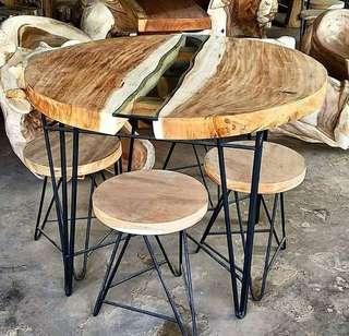 Set meja makan retro MMR41