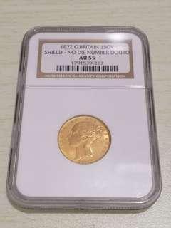 1872 QV Full Sovereign Coin - Douro Treasure