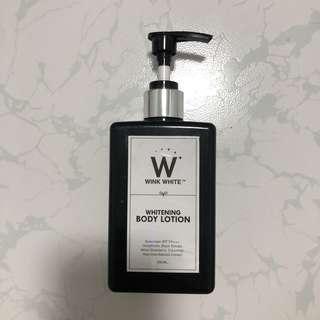 Wink white whitening body sun lotion