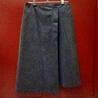 Soft Charcoal Wrap Skirt