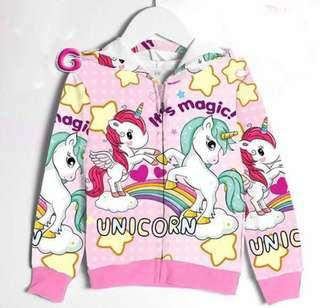 🚚 Kid jacket unicorn LOL jacket coat ( 4 designs)