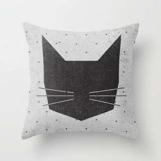 🚚 MEOW Cat Throw Pillow Cushion Cover