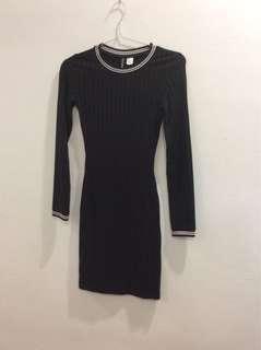 H&M Bodycon Dress tennis black