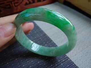 54圈口54.2*12.4*7.5mm特惠冰糯種飄陽綠寬邊手鐲,存在石紋不影響,編號0581
