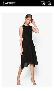 ZALORA premium handkerchief hem fit & flare dress #OCT10