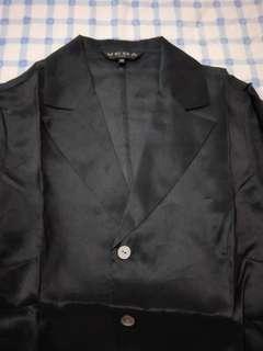 法國 VEDA 100%silk7分短外套