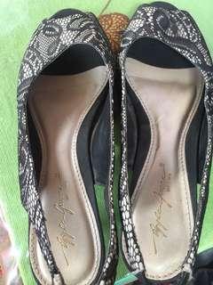 Apple green heels 3cm lace brukat