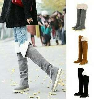 Winter over the knee suede boot