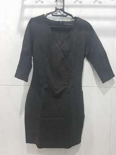 Zara Basic Charcoal Mini Dress