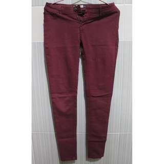 Pull & Bear Maroon Pants