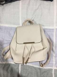 Off white / cream drawstring backpack