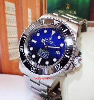 "Brand New ROLEX Deepsea Sea-Dweller ""D-Blue"" 44mm Automatic stainless steel Diver watch. Model 126660 D-Blue. Hard to get model. Swiss Made."