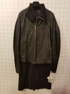Rick Owens 50 Leather cashmere overcoat