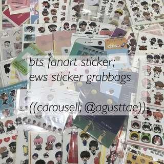 bts stickers / ews grabbags