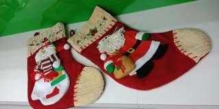Huge Christmas Sock Decoration (selling in Pair)