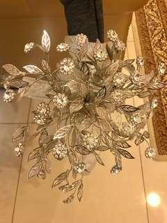 Hand flower bouquet in crystal