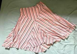 Stripes Office Skirt