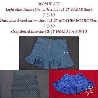 TAKE ALL 3PC skirts H&M, MOTHERCARE and FABLE for baby girls
