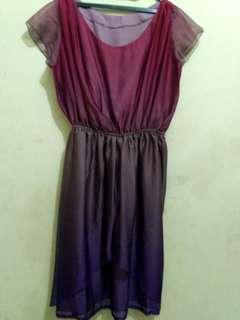 Bigsize Sifon Dress Gradasi