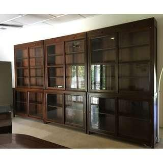 Vintage Tall Heritage Shophouse Showcase Cabinets (Restored)