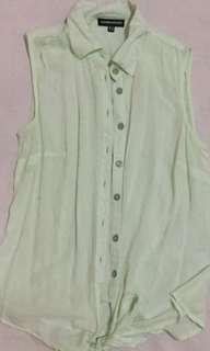 Warehouse pastel Green Knot top