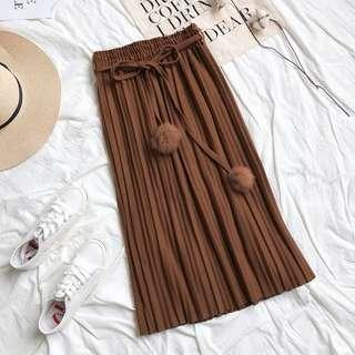 Korean Ulzzang Brown Skirt