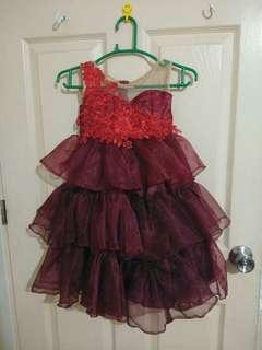Kids maroon gown