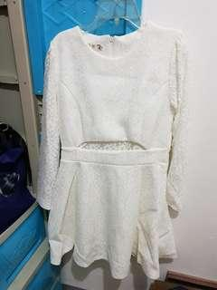 Repriced! White Laced Dress