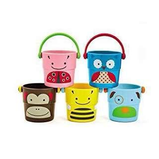 🆕👶🏻👧🏻👦🏻 Zoo Stack & Pour Buckets [FREE MAIL].