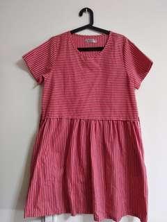 🚚 全新紅色小洋裝