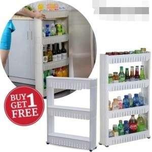 BUY 1 FREE 1: Space Saver Kitchen Rack (4)-Tier  free 1 ➡️ Space Saver Kitchen Rack (3)-Tier