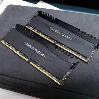 Corsair 2x8GB 3000Mhz DDR4 Vengenace LED White Ram