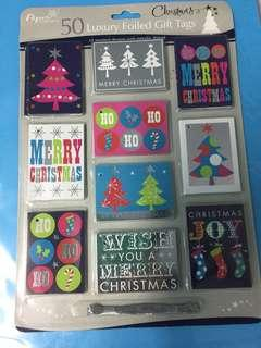 Christmas Luxury foiled gift tags