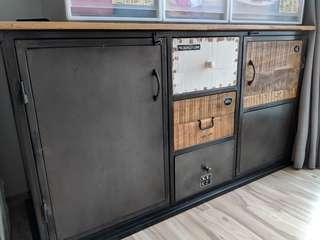 Vintage Sideboard Cabinet TV Console Industrial Cafe