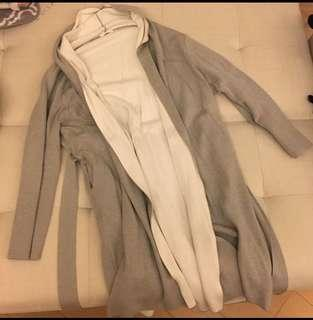 Murua 雙面灰白外套