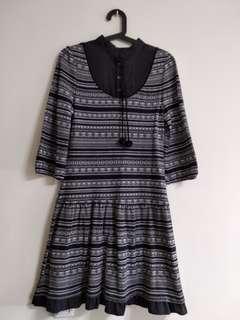 🚚 二手8happy 長袖黑色小洋裝